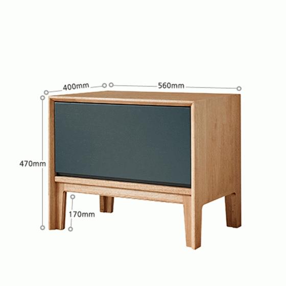 Tủ ngăn kéo Poppy 1 hộc gỗ cao su sơn xanh - Cozino