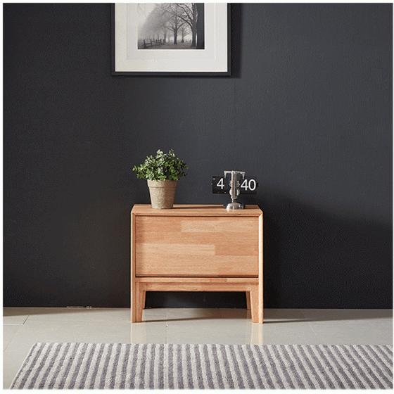 Tủ ngăn kéo Poppy 1 hộc gỗ cao su  - Cozino