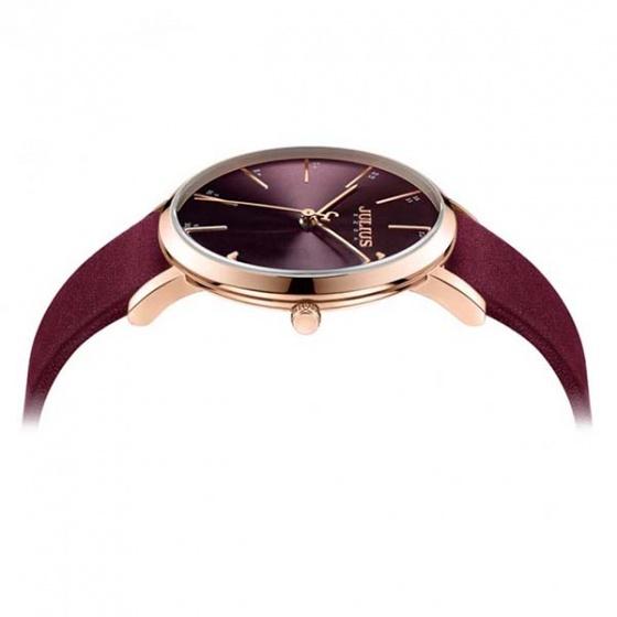 Đồng hồ nữ ja - 1161c Julius Hàn Quốc dây da (đỏ)