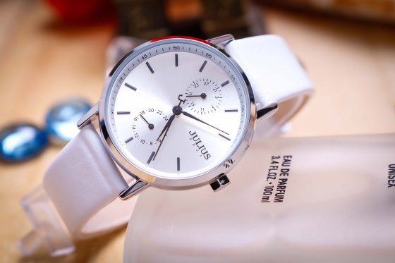 Đồng hồ nữ JA-1159 Julius Hàn Quốc dây da (Nhiều màu)