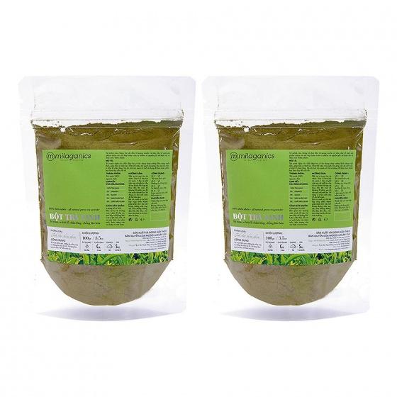 Combo 2 bột trà xanh Milaganics 100g
