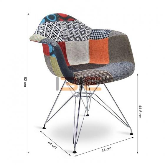Ghế Armest bọc thổ cẩm chân thép màu 3
