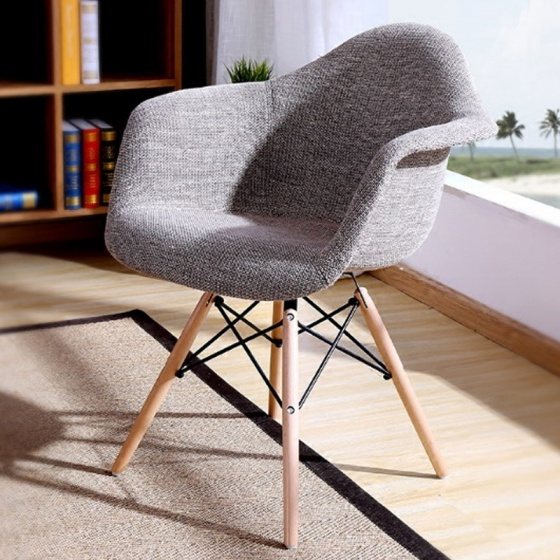 Ghế Armest bọc thổ cẩm chân gỗ màu 2