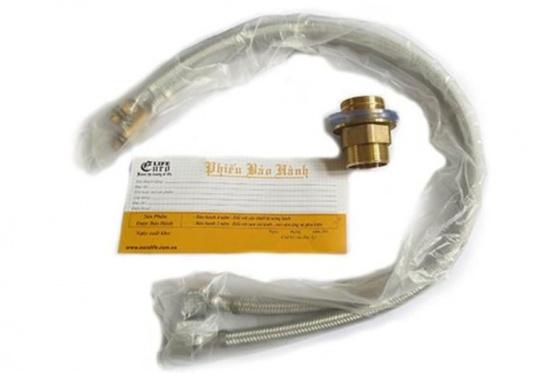 Vòi rửa chén nóng lạnh Eurolife EL-T009 (Trắng bạc)