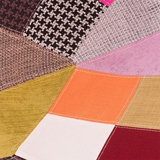 Ghế Eames bọc thổ cẩm chân gỗ nhiều màu 3