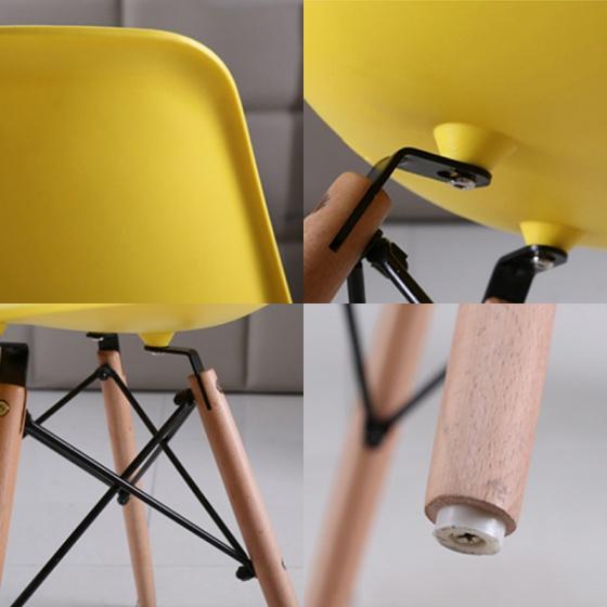 Ghế cafe IBIE Eames chân gỗ nhiều màu