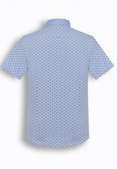 Áo sơ mi nam tay ngắn họa tiết The Shirts Studio Hàn Quốc TD42F2353BL