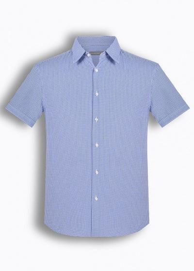 Áo sơ mi nam tay ngắn họa tiết The Shirts Studio Hàn Quốc TD42F2116BL