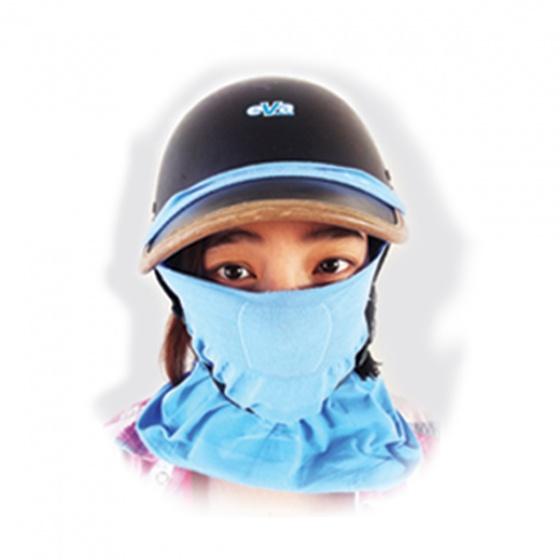Khẩu trang làm mát chống nắng, kháng khuẩn từ sợi Hyosung - màu xanh dương