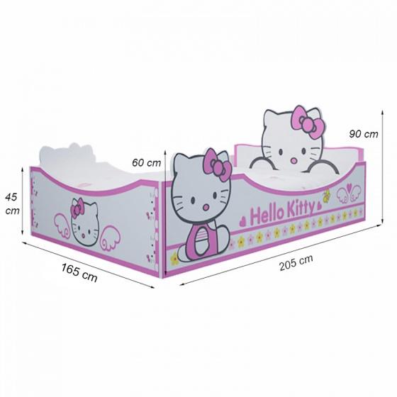 Giường bé gái hình Hello Kitty 1m6 - Ibie