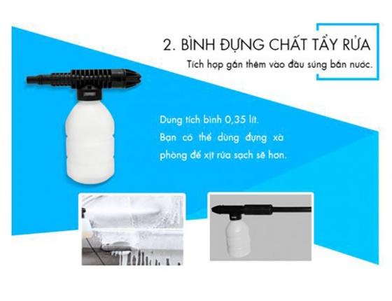 Bình chứa xà bông bình xịt cho máy xịt rửa Kachi MK70