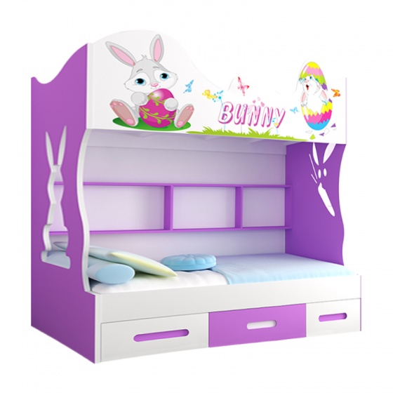 Giường tầng cao Bunny 1m4