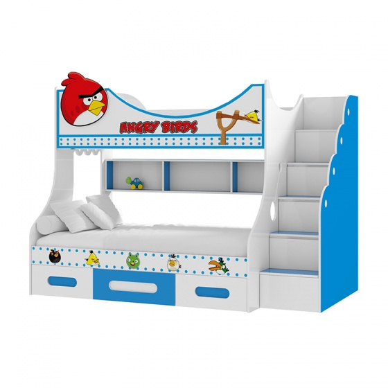Giường tầng cao Angry Bird 1m4