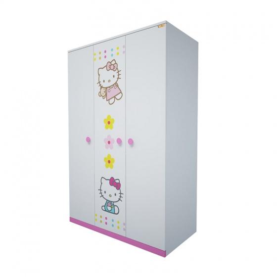 Tủ quần áo 3 cánh hình Hello Kitty 1m2 - Ibie