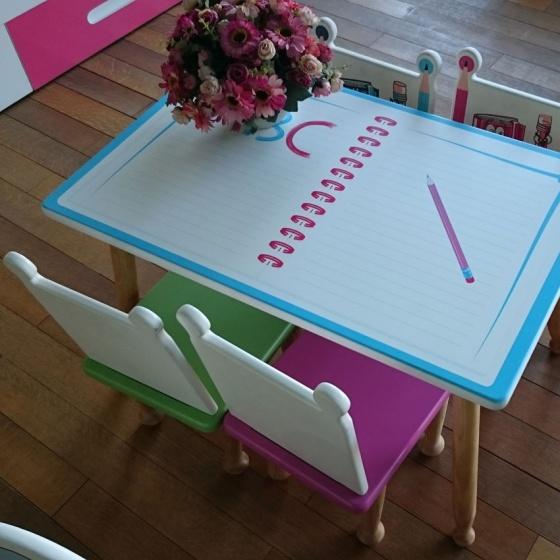 Bộ bàn ghế mầm non hình bút chì - Ibie