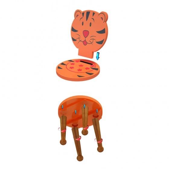 Bộ bàn 4 ghế trẻ em hình Thú rừng