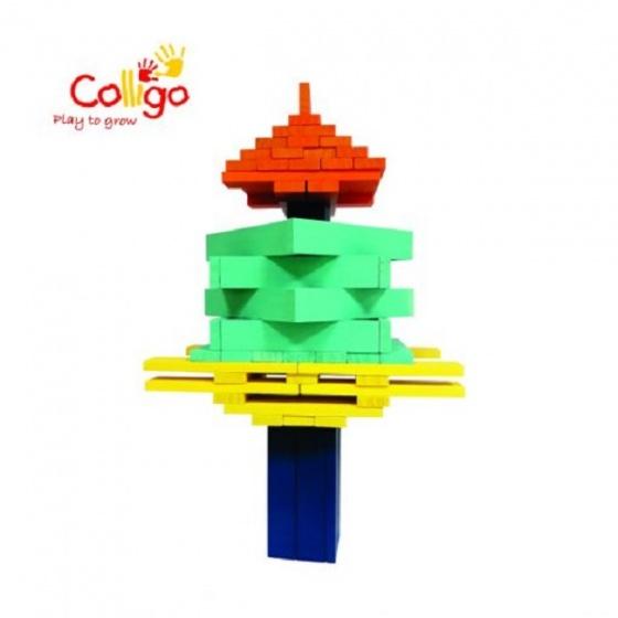 Bộ xếp hình 100 chi tiết (C) 4 màu Colligo - 10313C