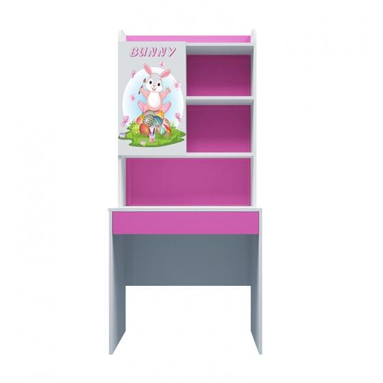 Bàn học có giá sách hình Bunny 80cm
