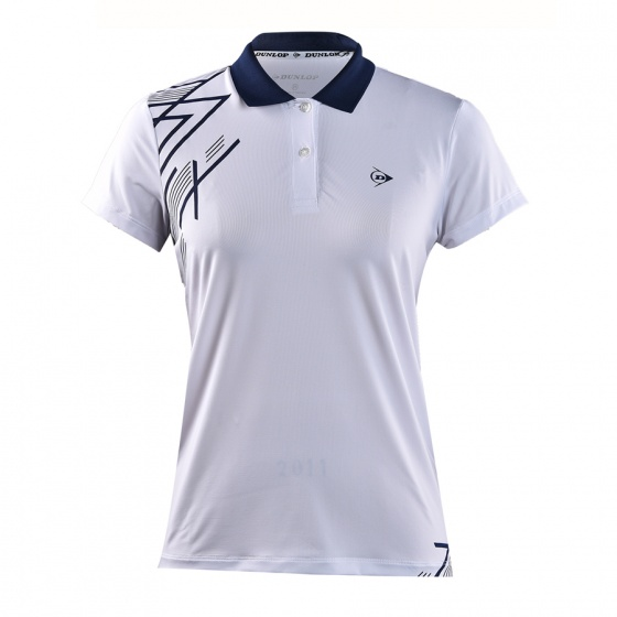 Áo cầu lông nữ Dunlop - dabas9038-2c-wt (Trắng)