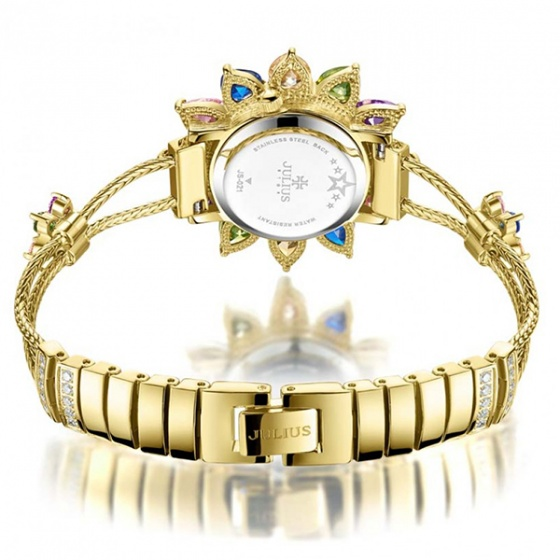 Đồng hồ nữ js-021a Julius star mặt hoa đính đá