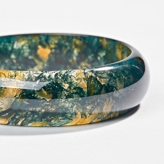 Vòng tay đá băng ngọc thủy tảo huyết Ngọc Quý Gemstones