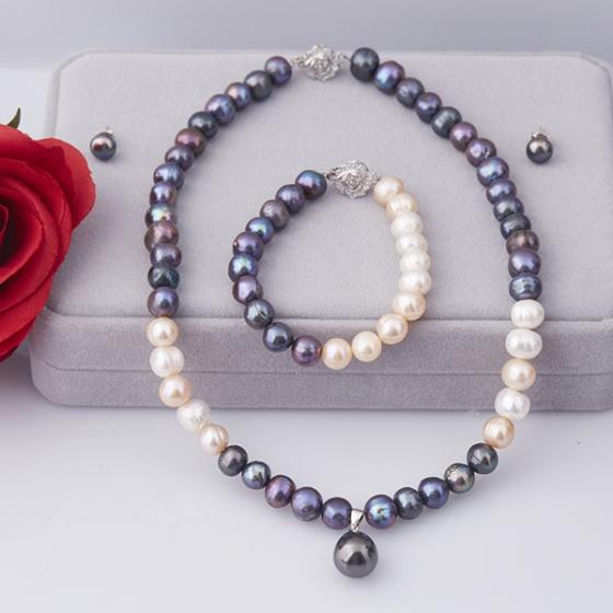 Opal - Bộ trang sức ngọc đa sắc màu T5