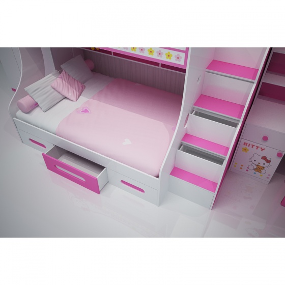 Bộ phòng ngủ hình Hello Kitty