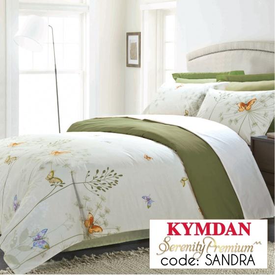 Drap Kymdan Serenity Premium 160 x 200 cm (drap + áo gối nằm + vỏ mền) SANDRA