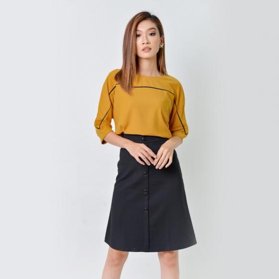 Set công sở thời trang Eden màu vàng - SET21