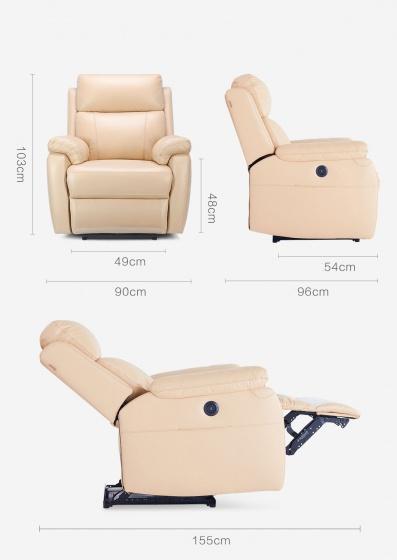 Sofa thư giãn cao cấp 8H - nâu