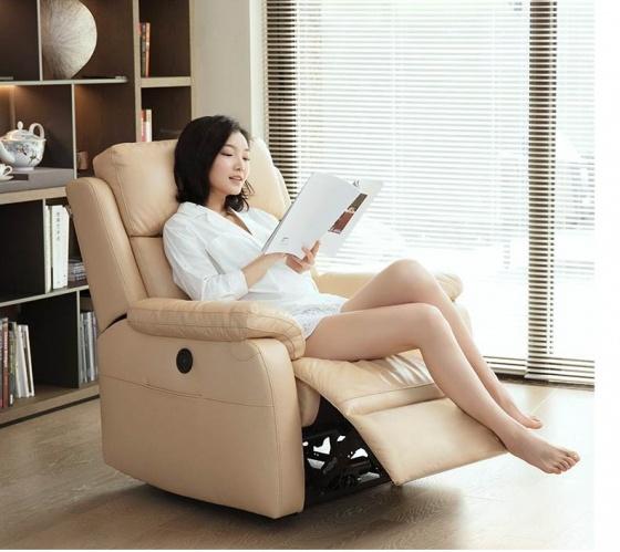 Sofa thư giãn cao cấp 8H - kem
