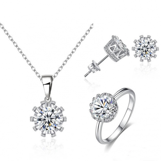 Bộ trang sức mạ bạc tặng mẹ yêu - Tatiana - DB1080