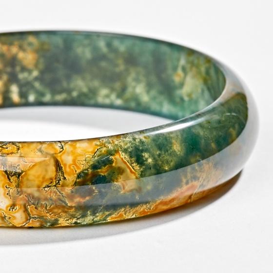 Vòng tay đá băng ngọc thuỷ tảo huyết ni 53 Ngọc Quý Gemstones