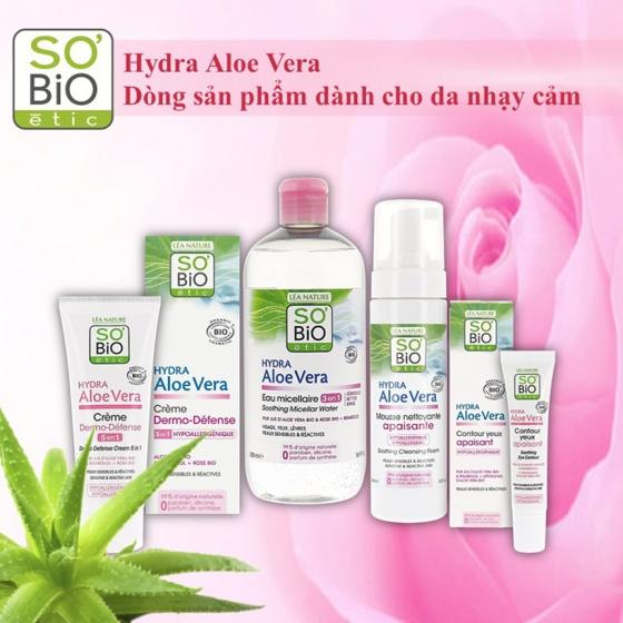 Foam rửa mặt hữu cơ với tinh chất lá lô hội dành cho da nhạy cảm 150ml