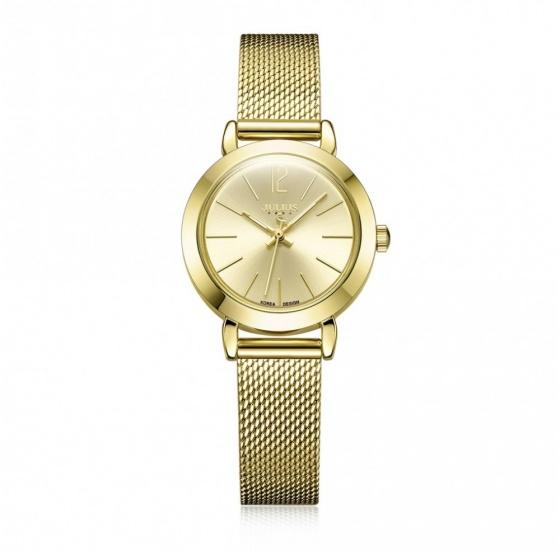 Đồng hồ nữ Julius Hàn Quốc JA-732D dây thép ( vàng)