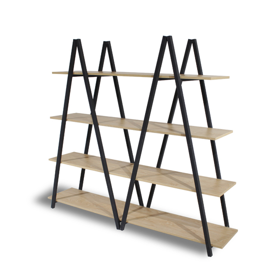 Kệ trang trí khung sắt Furnist Pyramid - màu ván gỗ bất kỳ