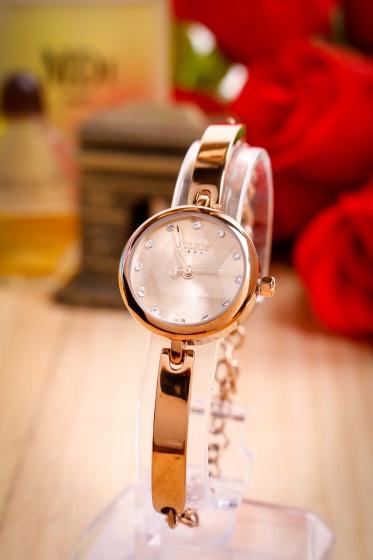 Đồng hồ nữ JA-1126E Julius Hàn Quốc dây thép (nâu)