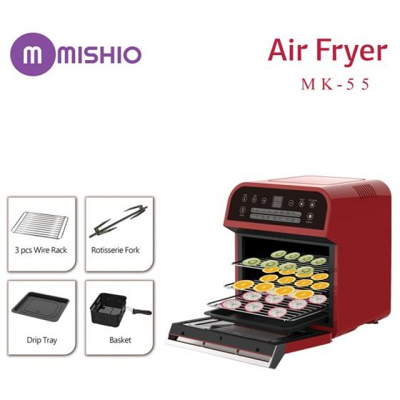 Nồi chiên điện tử 12L Mishio MK55 (đỏ)