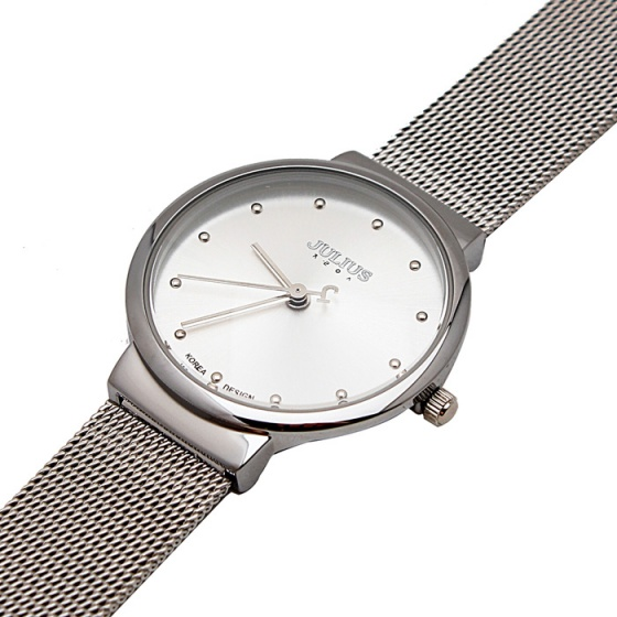 Đồng hồ nữ Julius Hàn Quốc JA-426ld dây thép bạc