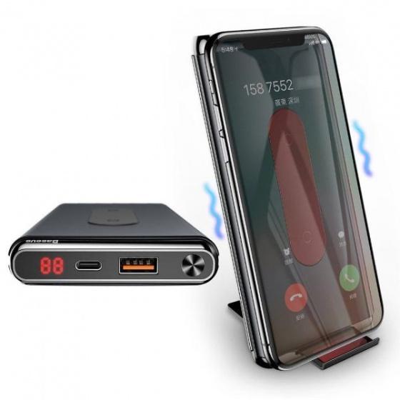 Pin sạc dự phòng hỗ trợ sạc nhanh hai chiều kiêm sạc không dây 5W Baseus 10KPW021