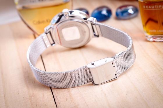 Đồng hồ nữ JA-1111A Julius Hàn Quốc dây thép (bạc)