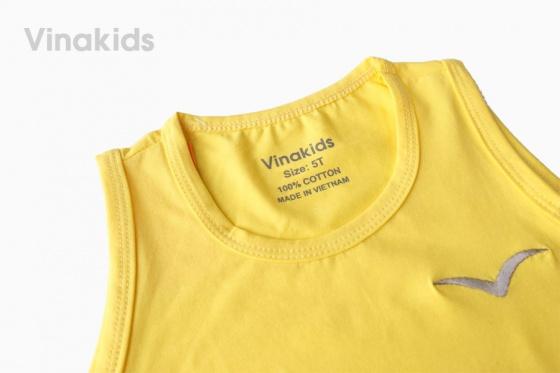 Combo 2 chiếc ba lỗ bé trai thêu logo Vinakids (3-12 tuổi)