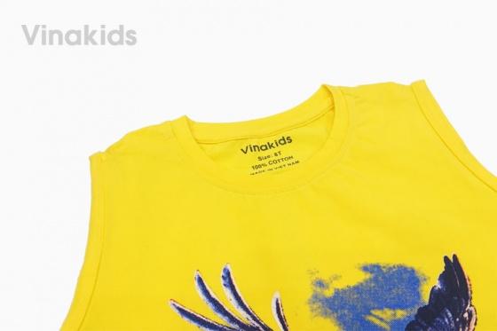 Đồ bộ bé trai sát nách Vinakids hình đại bàng (8-12 tuổi)