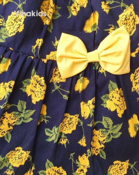 Chân váy bé gái hoa đính nơ (1-5 tuổi)