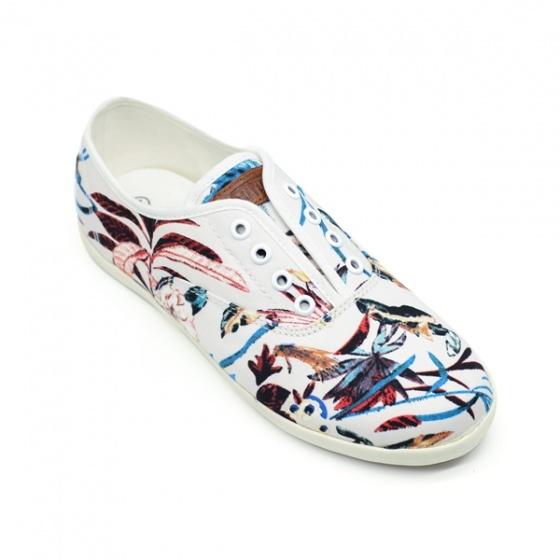 Giày sneaker nữ Sutumi O002 - Bông xanh