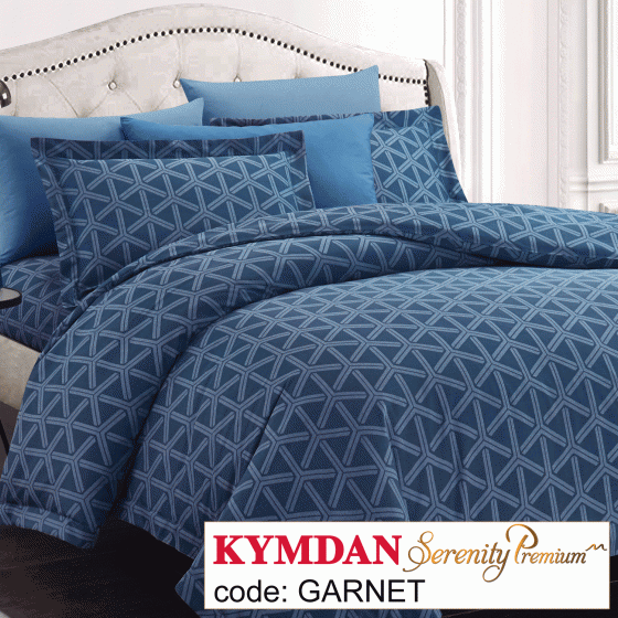 Drap Kymdan Serenity Premium 160 x 200 cm (drap + áo gối nằm + vỏ mền) GARNET