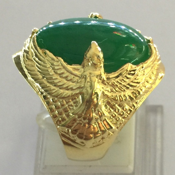 Nhẫn nam đá thạch anh mạ vàng 18k