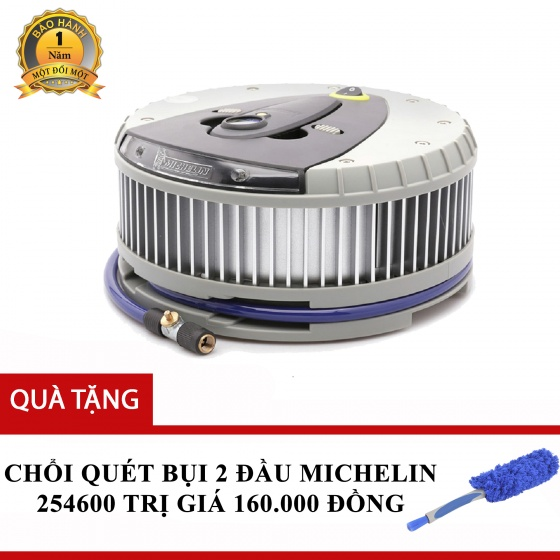 Máy bơm lốp đa năng Michelin 12260 tặng Chổi quét bụi 2 đầu Michelin 254600