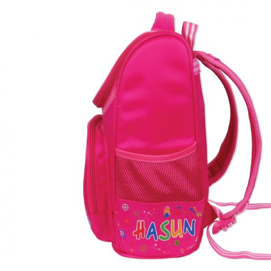 Balo đeo chống gù học sinh tiểu học Hasun HS805 - Hồng Sen