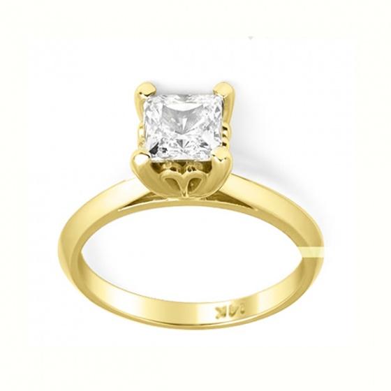 Nhẫm nữ vàng 14k đá kim cương nhân tao - VTRG0726